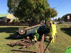 Backpackers roll Falcon through family fence
