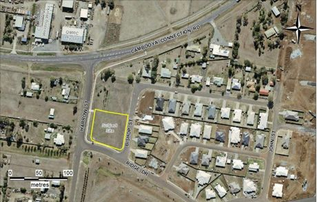 The location of the proposed shopping centre.