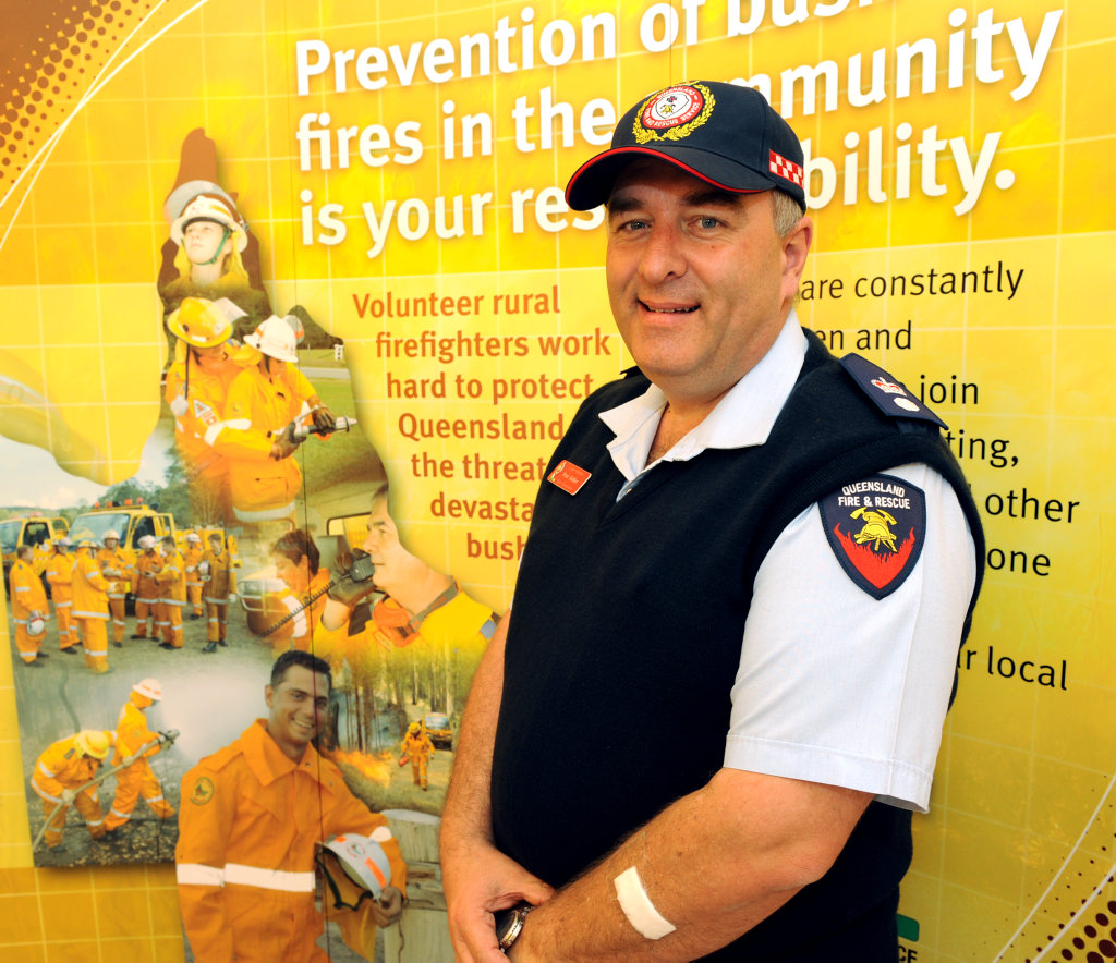 QFES regional manager for rural fire services, Peter Hollier.