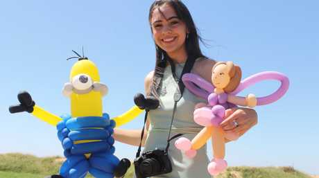 Hervey Bay teenager Breannah Mitchell launched her business Balloon Mania at age 14. Now out of high school, she is developing a filmmaking business.