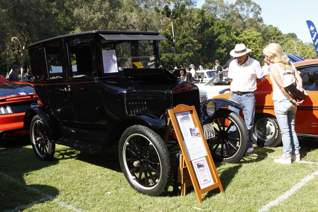1924 Ford Model T Fordor Sedan at the 2016 Noosa Beach Classic Car Show.Photo: Iain Curry