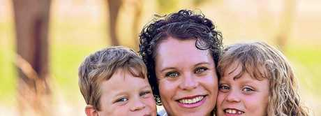 EXPANDING BUSINESS: Newborn/family photographer Sarah Gage, with her children Jack and Abbey Wilson, now operates from a studio in Russell St.