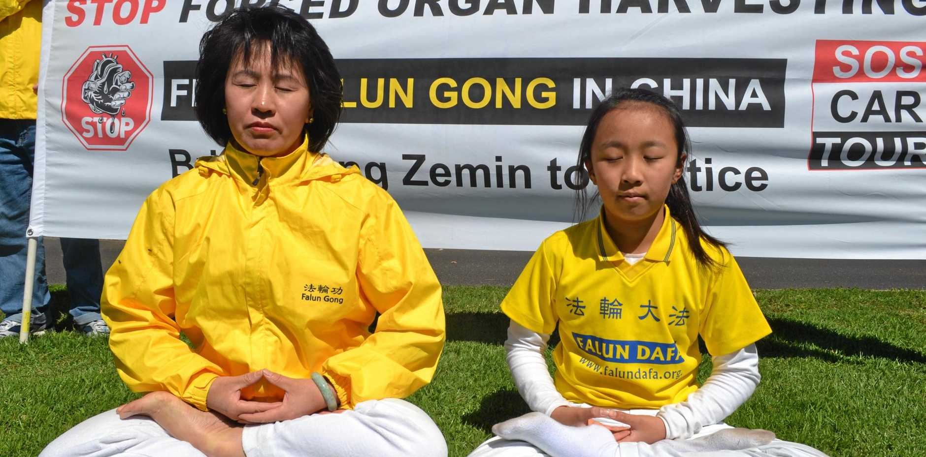 PEACE: Annie Zhao and her daughter Julia Yu are raising awareness of forced organ harvesting in China.