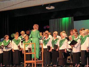 Choir and brass band a joyous combo