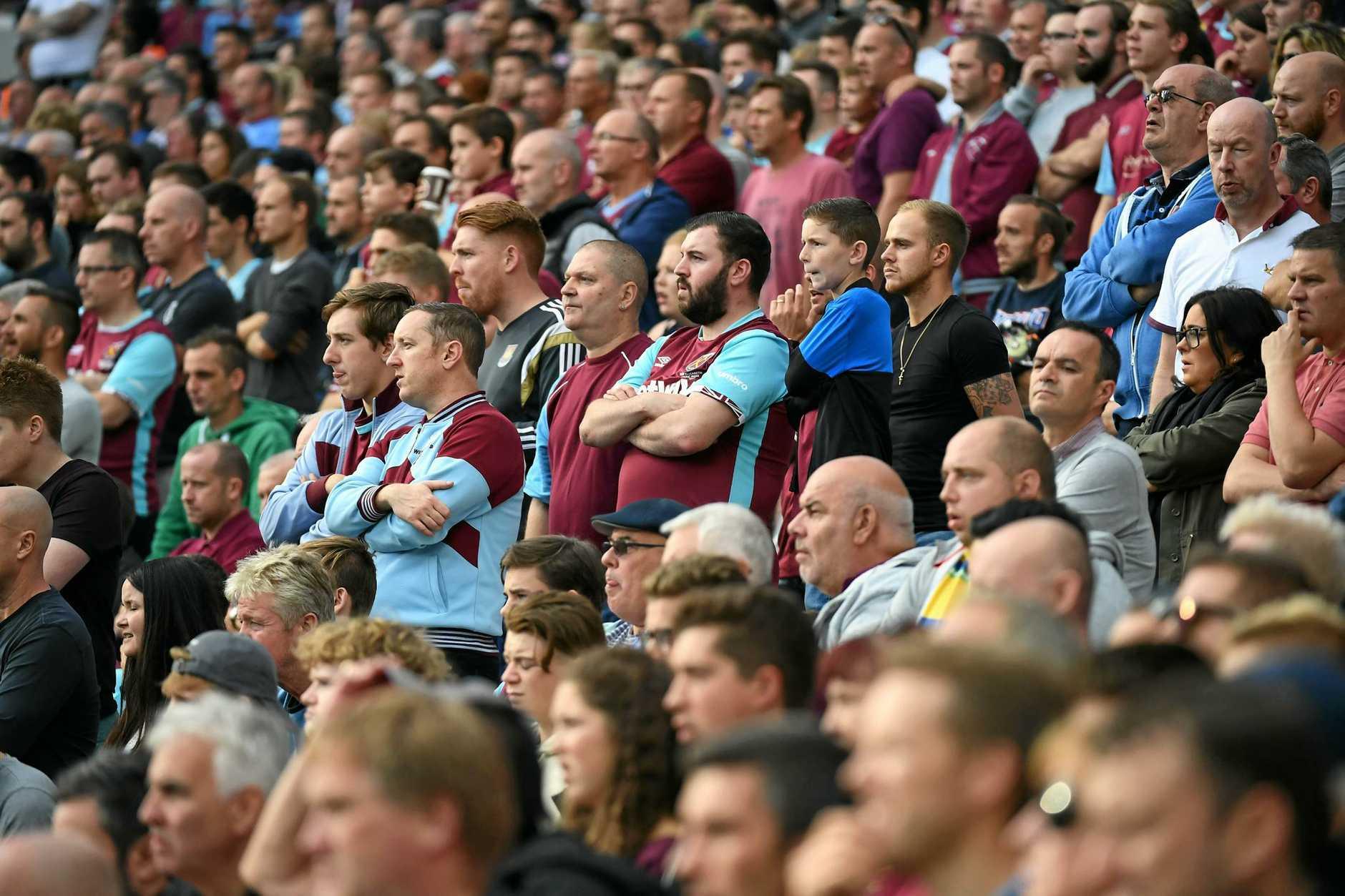 West Ham fans at London Stadium.