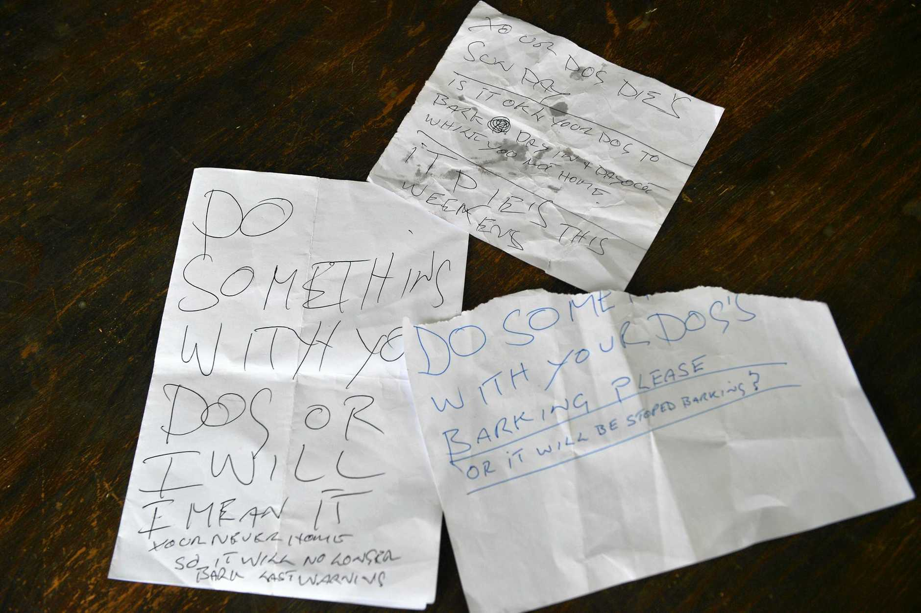 THREATS: A Bundaberg dog owner has received letters threating to kill their pet for barking.
