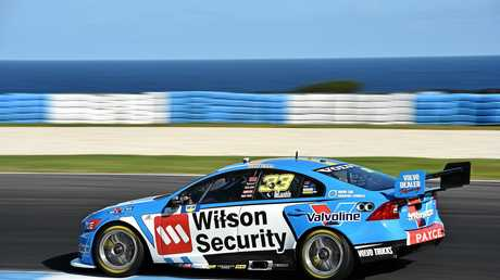 Scott McLaughlin on his way to victory on Phillip Island in April.
