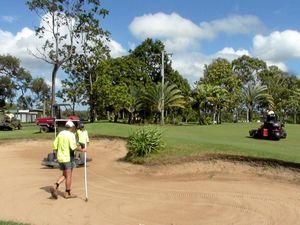 Trespassers on quads rip up Yeppoon Golf Course green