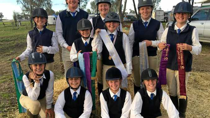 NO HORSING AROUND: Riders from the Roma Pony Club have returned from the Queensland Pony Club Championships on the weekend.