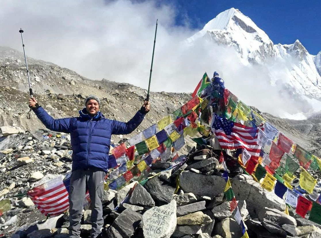 AIN'T NO MOUNTAIN HIGH ENOUGH: Chinchilla's Brendan Beasley successfully made it to Everest Base Camp last month.
