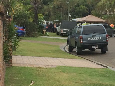 A man in his 30s has been arrested after a four-hour long stand-off in a Bokarina street.