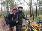 NO STOPPING: At 68 years old, Pete Lane loved cycling through the Brisbane Valley with his daughter Jo.