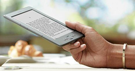 The Kindle e-reader.