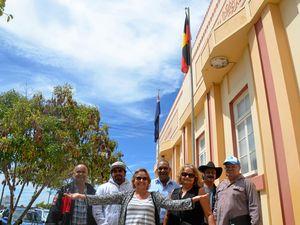 Aboriginal flag flies