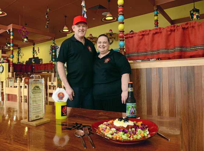 MUY DELICIOSO: Montezuma's Riverlink franchisees Tina and Terry Bartholomai.