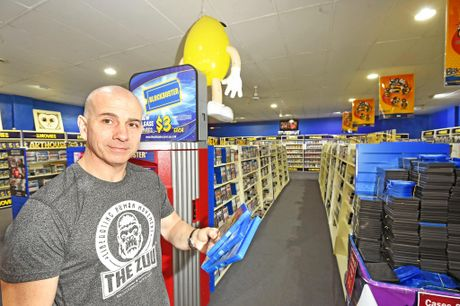 Lismore Blockbuster owner Alan Blanch has a passion for movies and the stories they tell.