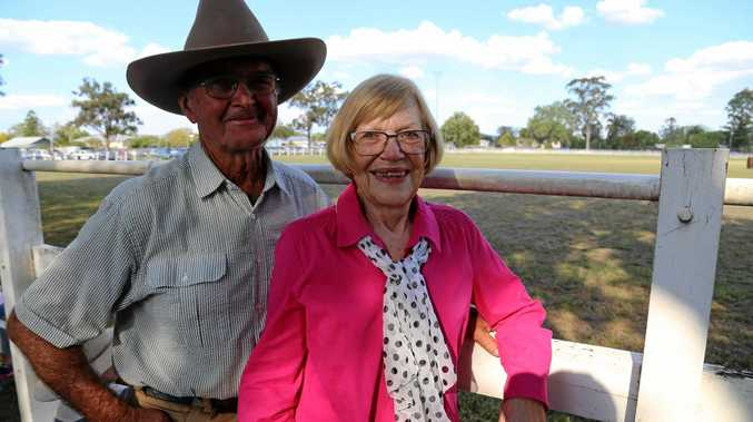 GOOD TIMES: Bruce Burnham with his wife Barbara at the Monto Dairy Festival.