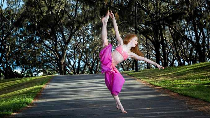 KICKING IT: 8-year-old dancer Kadelle Smith.