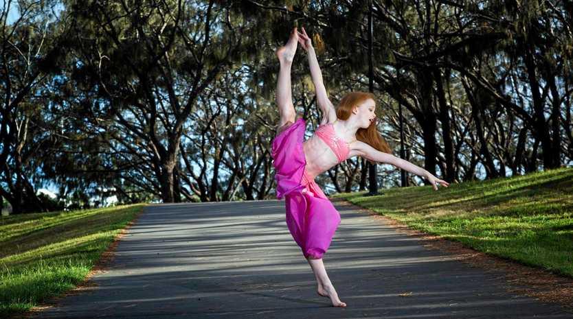 KICKING IT: 8-year-old dancer Kadelle Smith.