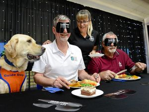 Ultimate blind dinner date to help guide dogs