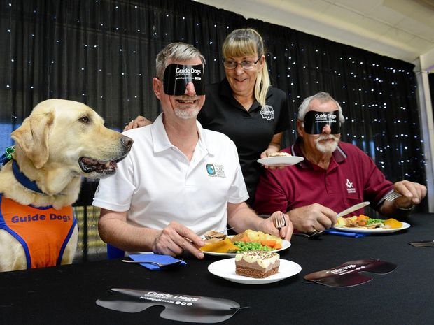 Freemasons from the Ipswich Masonic Hall are hosting a blind folded dinner at the Ipswich Showgrounds to raise money for Guide Dogs Queensland.
