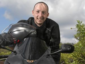 100 motorbike riders take Braden on final journey