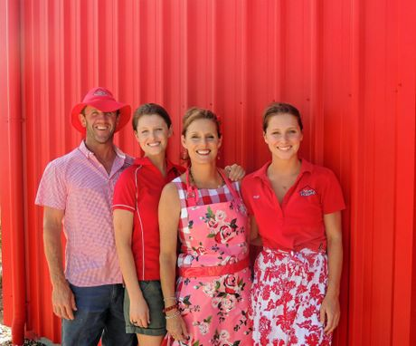 Red Shed Seafood's Tony, Bonnie, Marguerite and Ruby Mills.