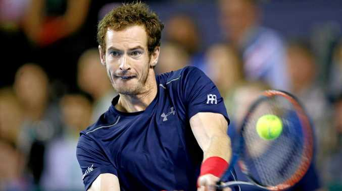 Andy Murray in action for Great Britain in the Davis Cup.