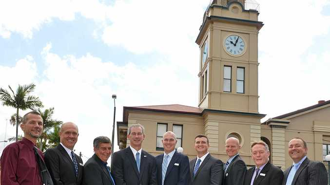 Gympie region councillors outside Gympie Town Hall.