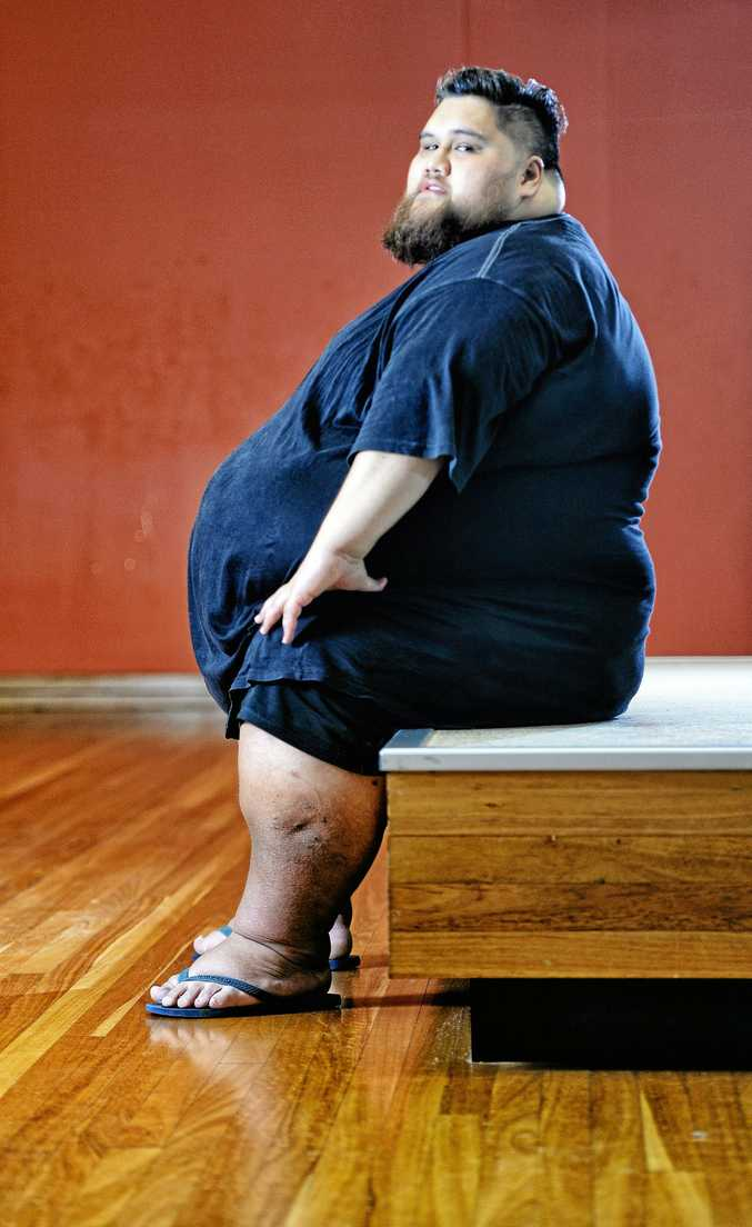 Ipswich man Gary Tofaenono started his weight loss journey at 300kg and is hoping to get to 100kg.
