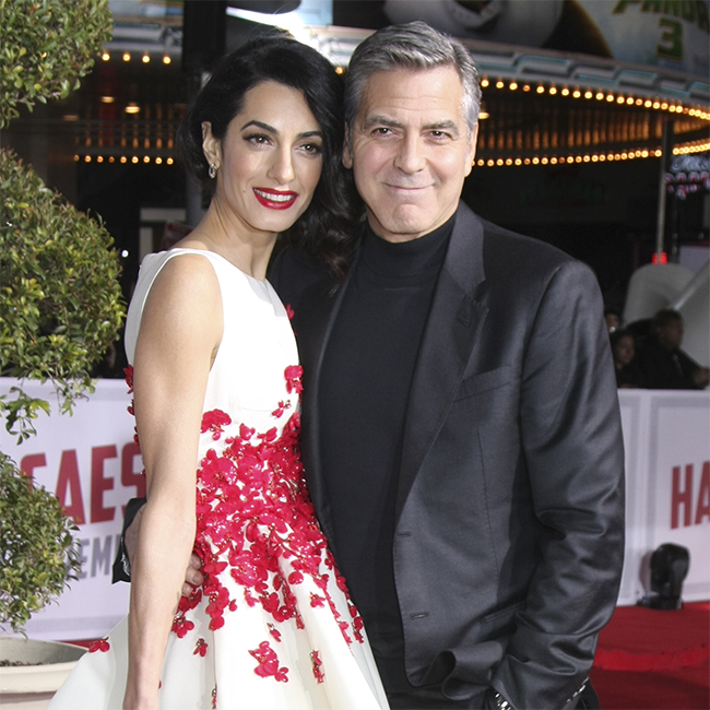 Amal Clooney and her husband, George.