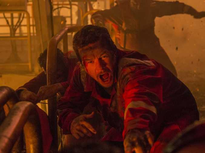 Mark Wahlberg in a scene from the movie Deepwater Horizon.