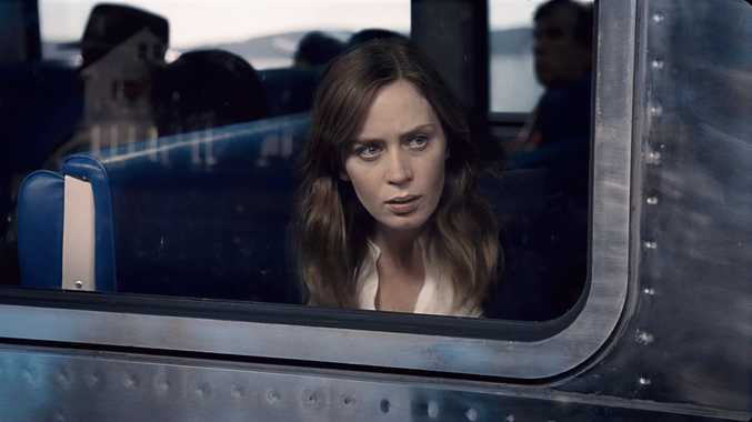 Emily Blunt in a scene from the movie The Girl on the Train.