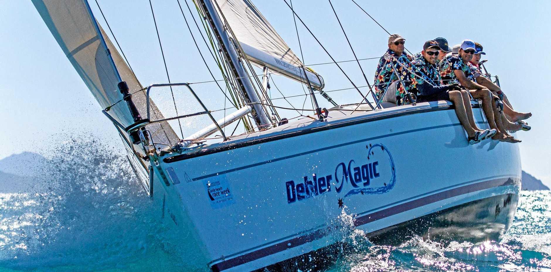 LINE HONOURS: Dehler Magic took line honours in Race 1 of the WOYRC series at the weekend.