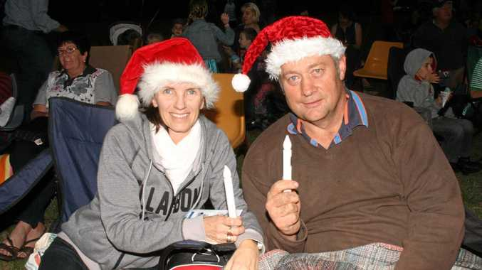 Phill and his wife, Sue at Allora's Creekside Carols under the Stars.