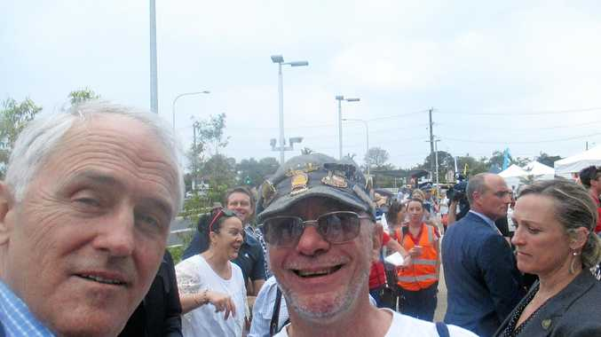 Ken Smith was able to capture this selfie with Prime Minister Malcolm Turnbull.