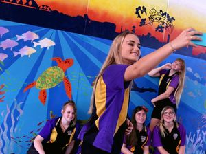 Students create a colourful mural for event