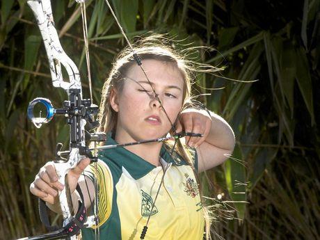 WINNER WINNER: Murphys Creek 12-year-old Amber Reinbott is a world champion archer.