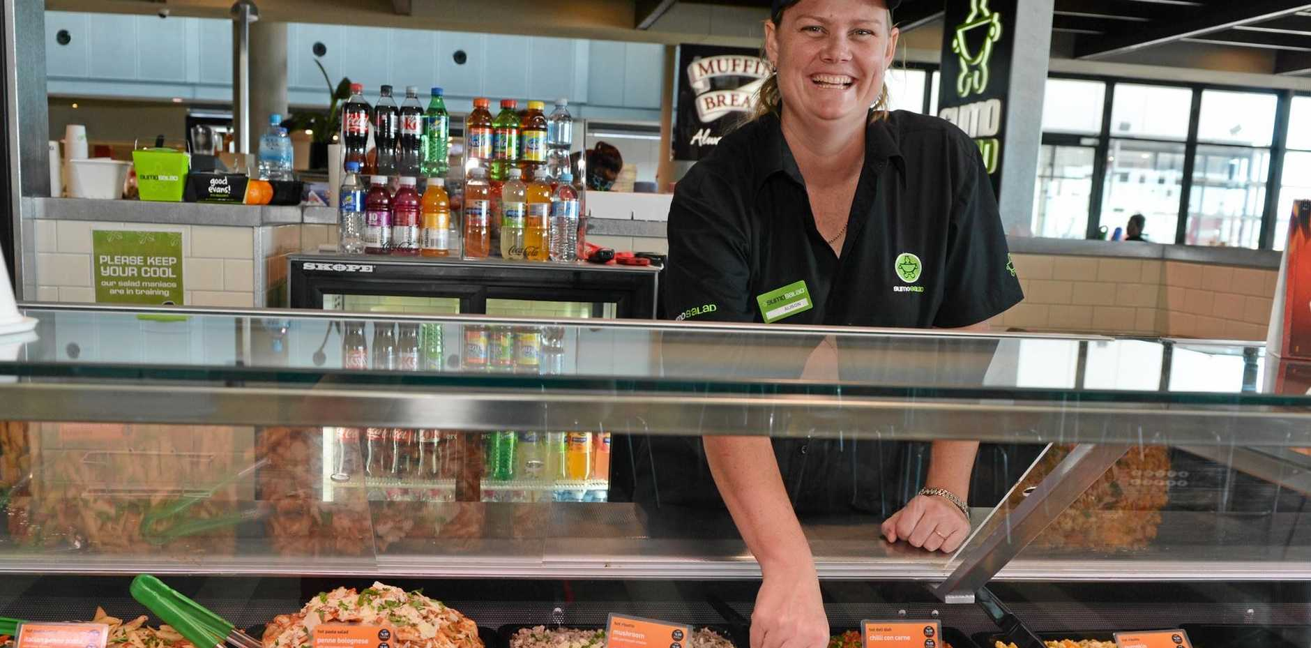 Sumo Salad in Mackay opened at Caneland Central in mid-2013, backed by franchisee Alison English. A staff member at the company's head office says the store has now closed.