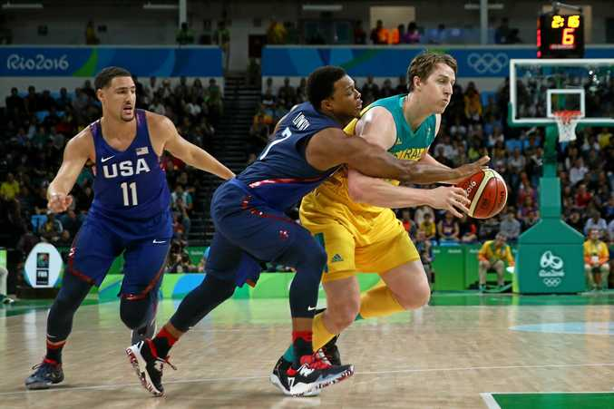 IN DOUBT: Cameron Bairstow, in action for Australia at the Rio Olympics, is under an injury cloud.