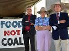 Paul King, Aileen Harrison and Frank Ashman have objected to the expansion of the New Acland coal mine and gathered outside court in Brisbane ahead of closing submissions in the case.
