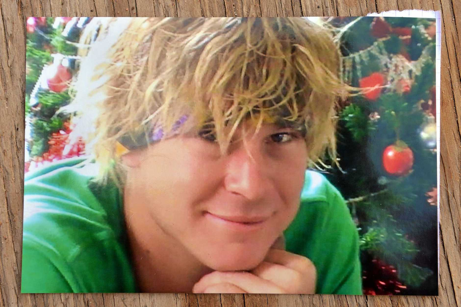 Cory Andrews, pictured here when younger, died after trying to cross Sunshine Motorway on foot in the early hours of Saturday morning. He was 23.