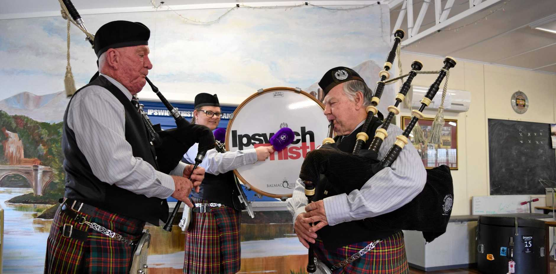 FINELY TUNED: Ipswich Thistle Pipe Band was judged best Street Marching Band at the Australian Championships.