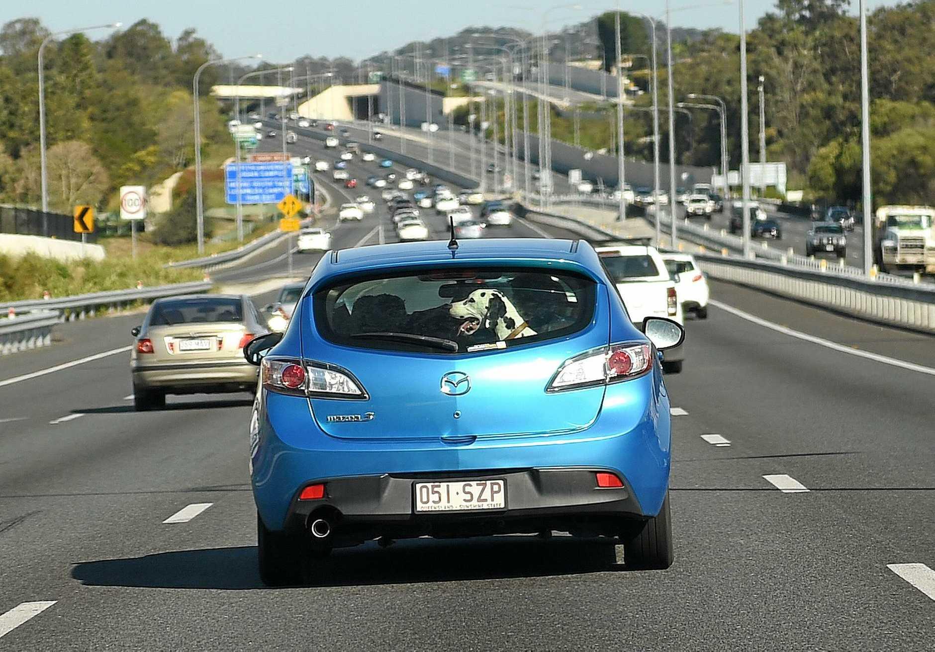 The Pacific Motorway near Brisbane.