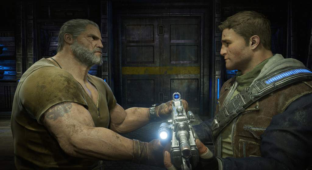 Father and son team up in Gears of War 4.
