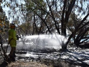 Crews battle fire in Hervey Bay