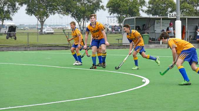 STRIKE: Gympie players go on the attack at the Queensland under-15 state titles in Mackay.