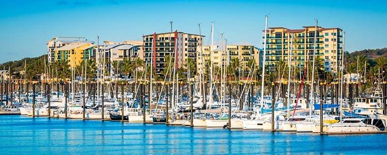 A shot of Mackay Marina by Stuart Higgins.
