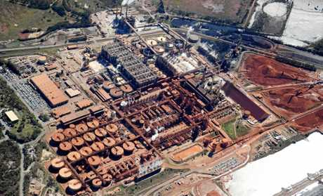 Aerial View of Queensland Alumina Limited (QAL) Gladstone.