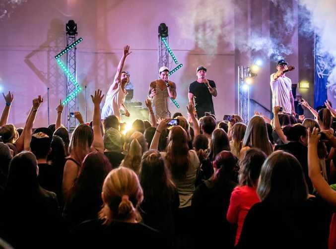 ELECTRIC: Justice Crew in concert last weekend.
